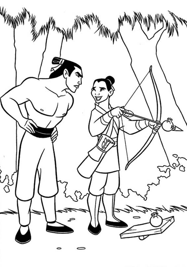 Print Free Mulan Coloring Pages for Kids