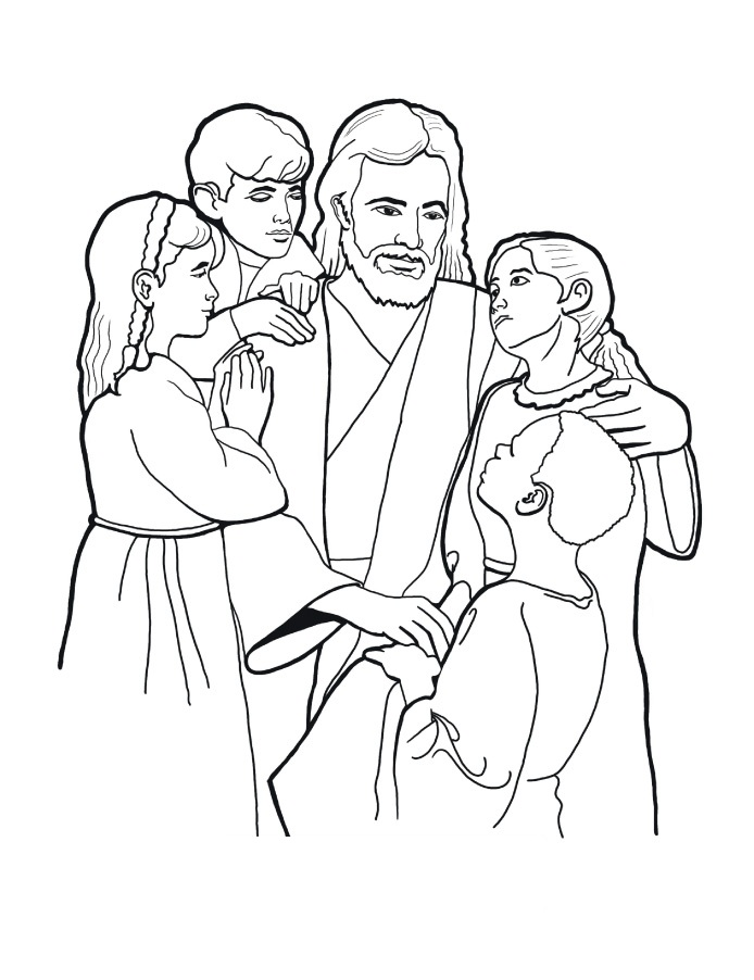 Jesus Christ Bible Coloring Pages