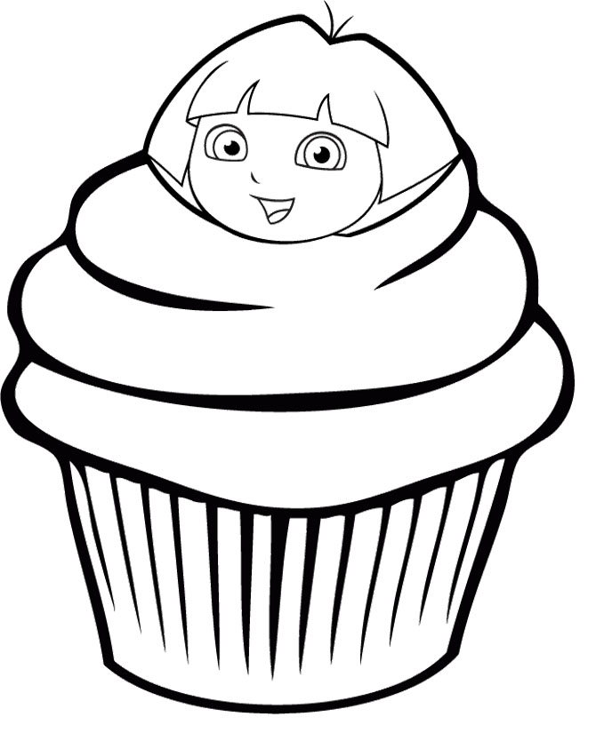 Printable Cupcake Coloring Pages for Preschoolers