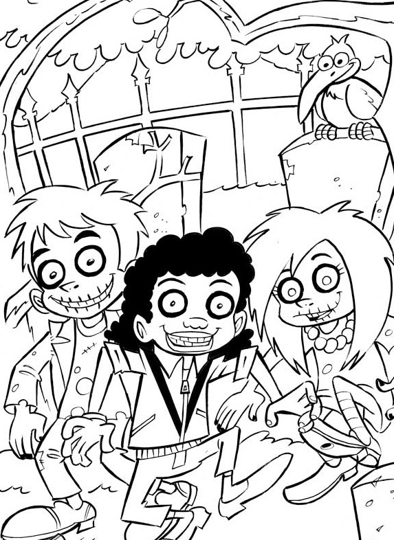 Free Zombie Coloring Sheets Printable