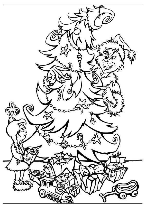 Free Grinch Coloring Sheets for Kids