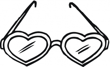 Heart Glasses Coloring Pages for Adults