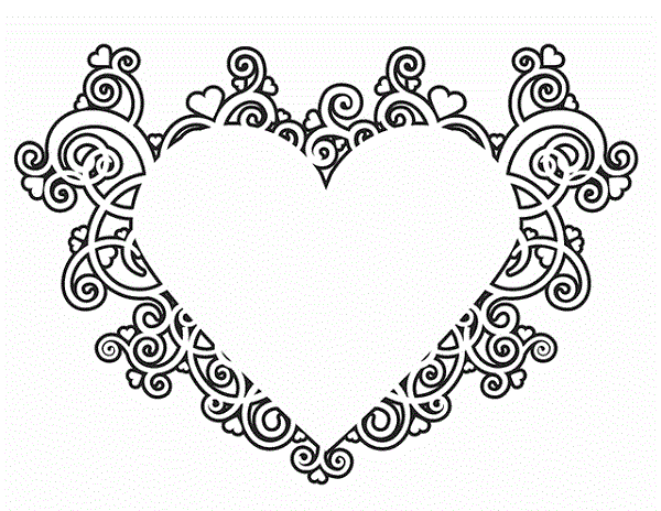 Heart Coloring Sheets Free Print