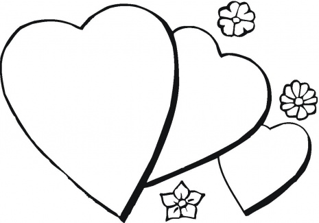 Print Heart Coloring Sheets for Kids