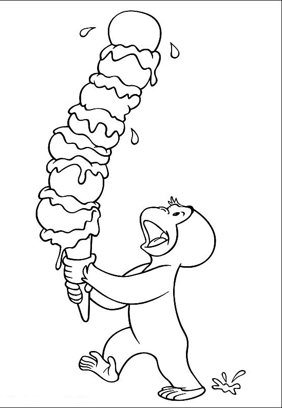 Free Ice Cream Coloring Page
