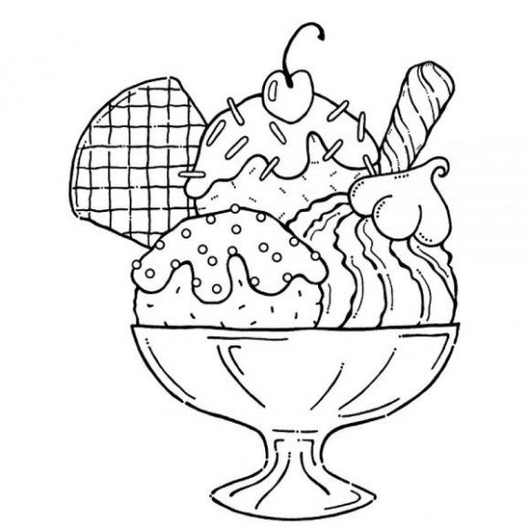 Ice Cream Coloring Sheet