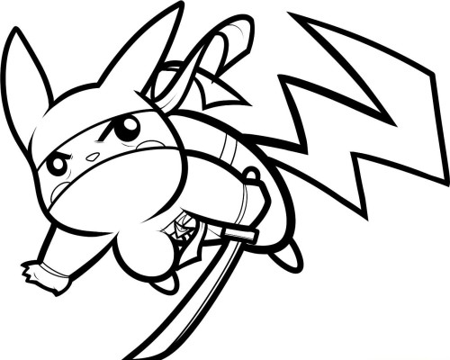 Print Pikachu Coloring Page for Kids