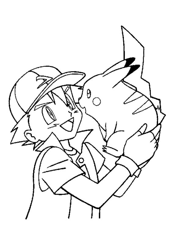 Print Pikachu Coloring Pages
