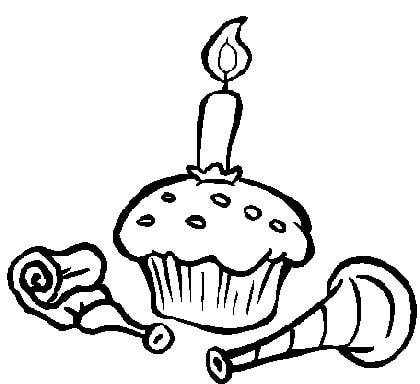 Cupcake Coloring Sheets for Free