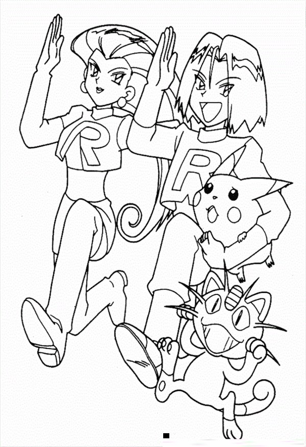 Pikachu Coloring Pages to Print