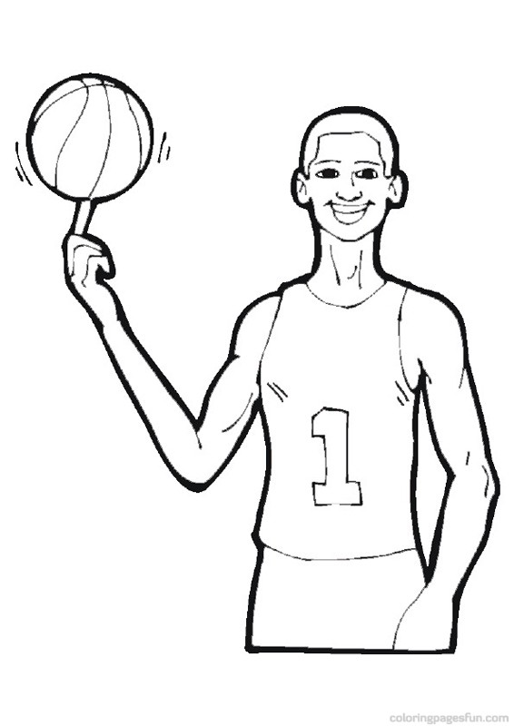 Basketball Coloring Pages for Kids Print