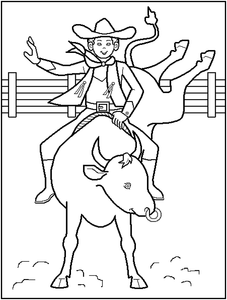 Cowboy Coloring Sheets for Free