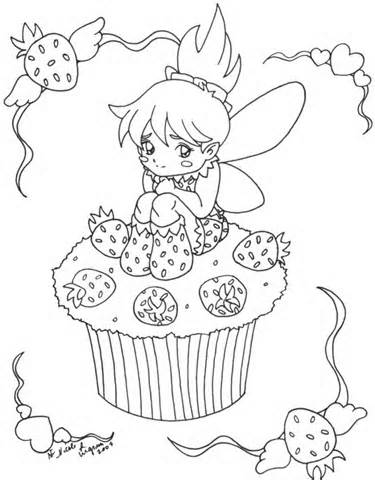 Free Printable Cupcake Coloring Pages