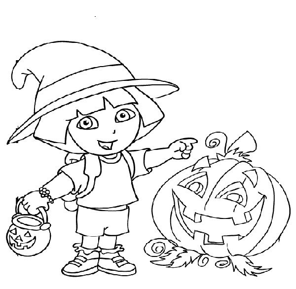 Dora coloring pages 360coloringpages for Dora black and white coloring pages