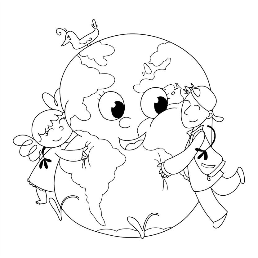 Free Printable Earth Day Coloring Page Pictures