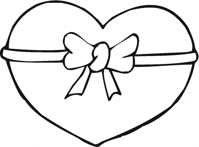 Heart Coloring Page For Kids Printable Pages Free