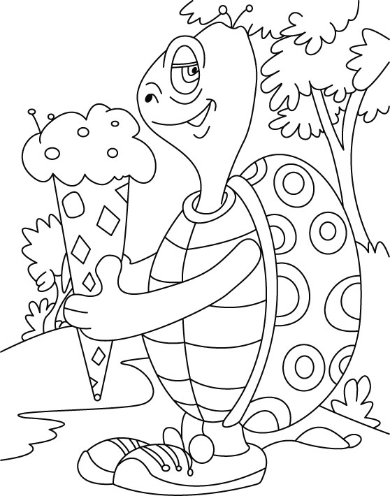 Free Printable Ice Cream Coloring Page for Kids