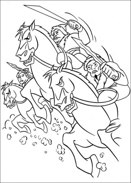 Printable Mulan Coloring Pages for Free