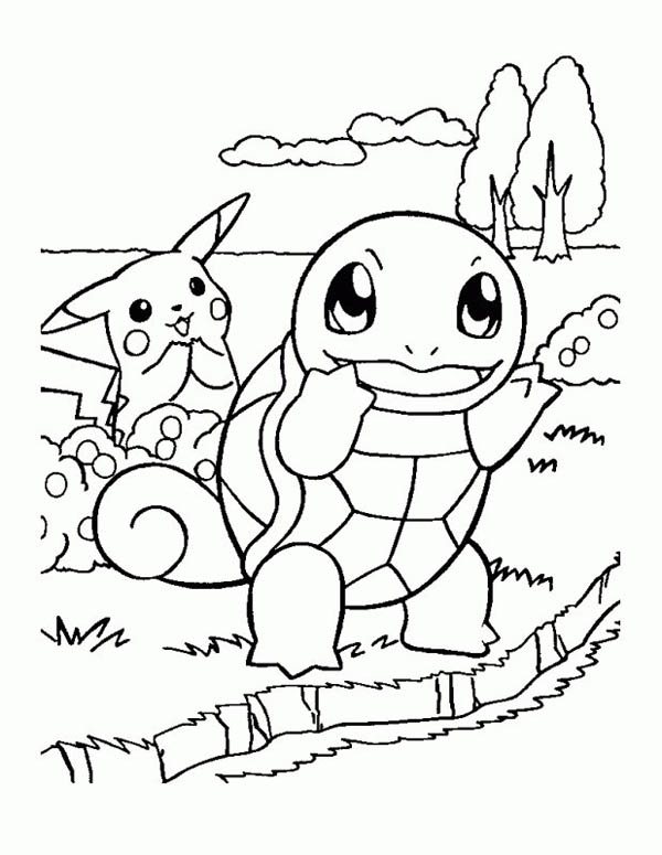 Printable Pikachu Coloring Page for Free