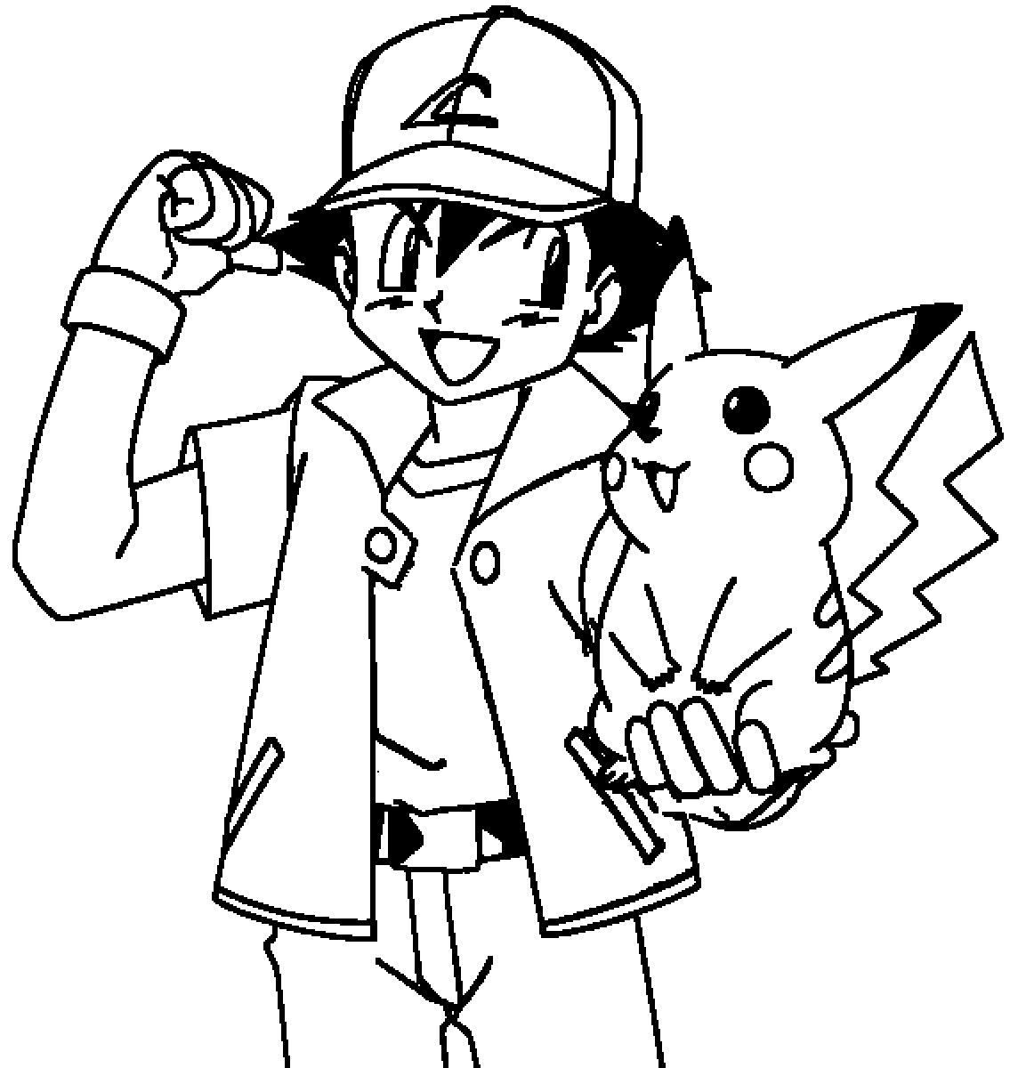 Pikachu Coloring Sheets for Kids to Print