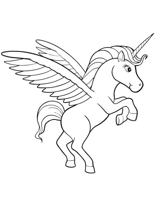 Baby Unicorn Coloring Page For Kids Printable Pages Free