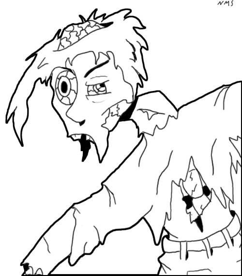 Download Printable Zombie Coloring Pages