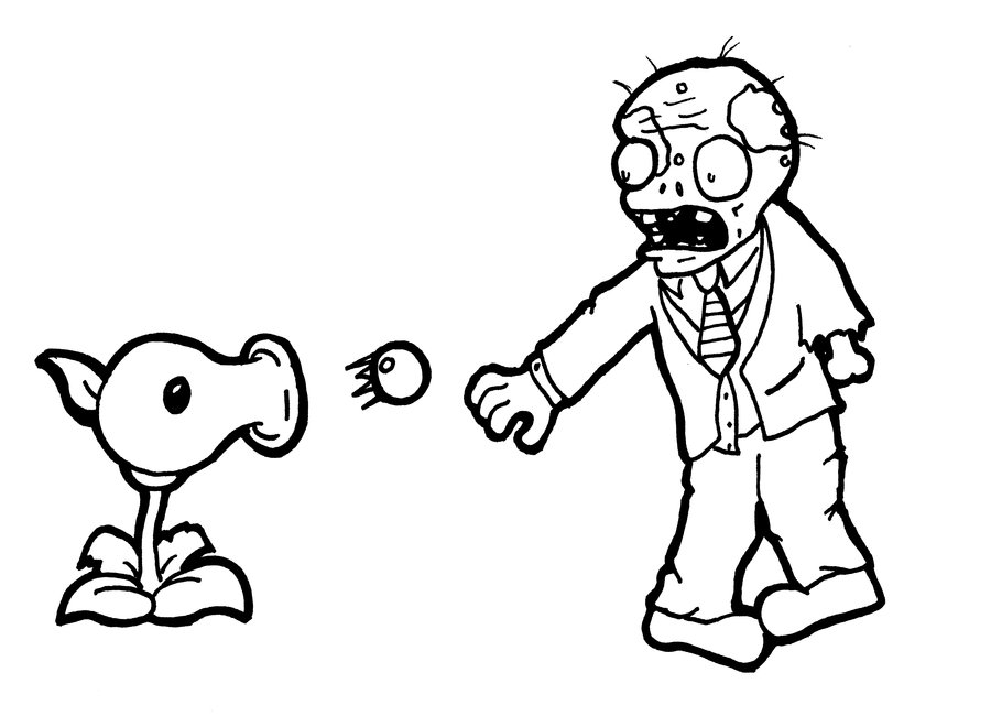 Printable Zombie Coloring Sheets for Free