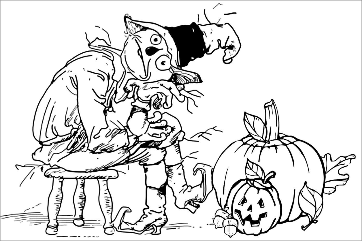 24 Free Halloween Coloring Pages Every Kid Will Love | OhLaDe | 998x1500
