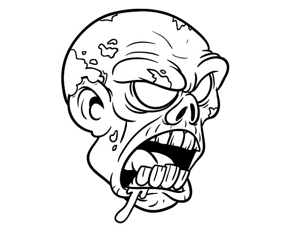 Scary Zombie Coloring Sheets