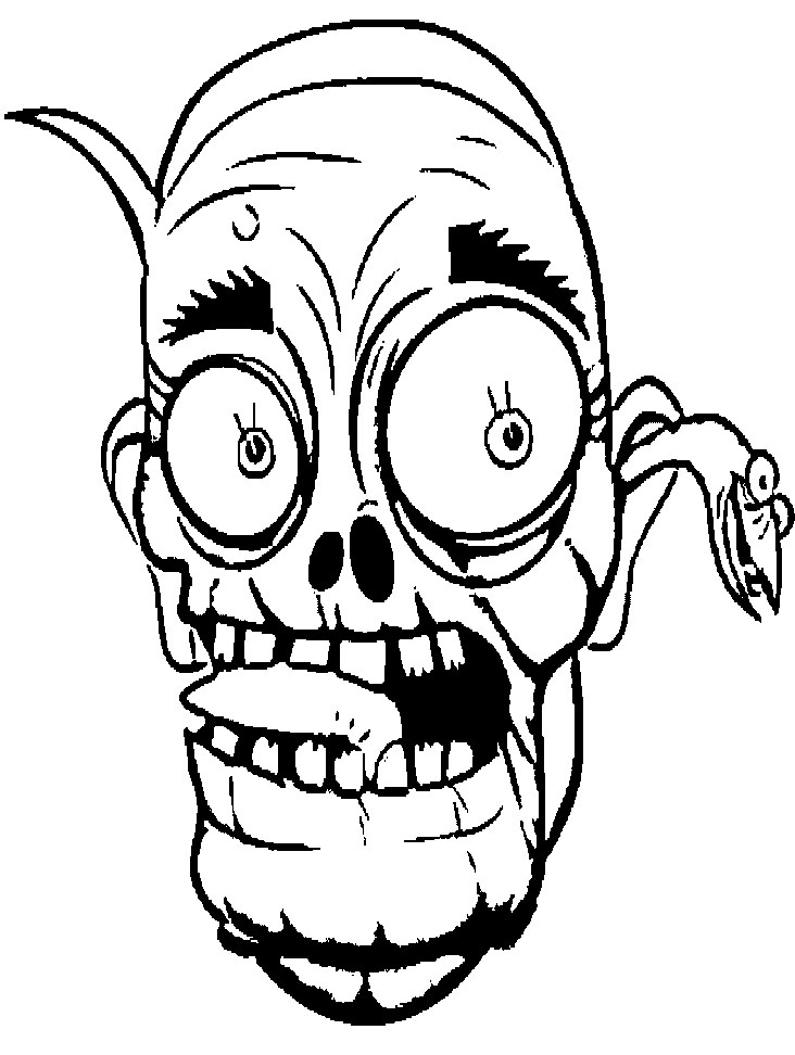 Scary Zombie Coloring Sheet