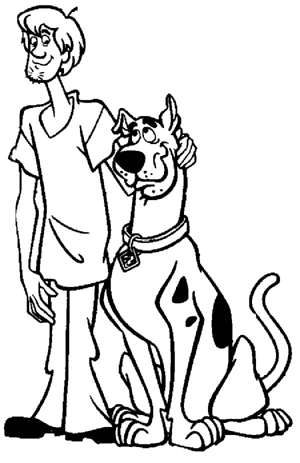 Free Scooby Doo and Shaggy Coloring Sheets