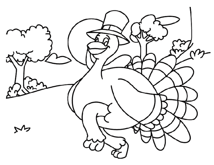 Turkey Coloring Pages Free Print