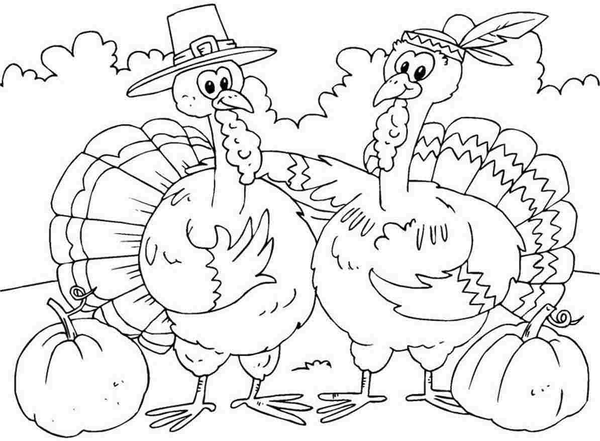 Printable Turkey Coloring Pages for Children