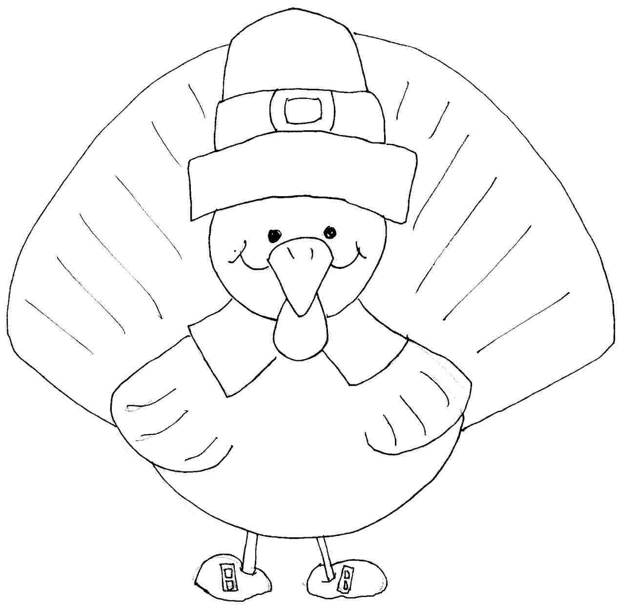 Printable Turkey Coloring Pages for Toddlers