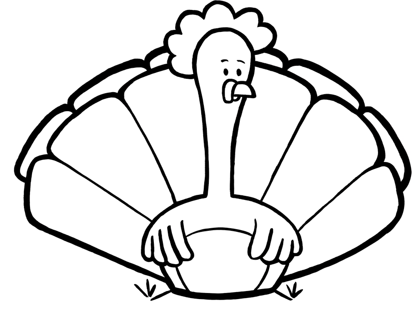 Turkey Coloring Pages Print