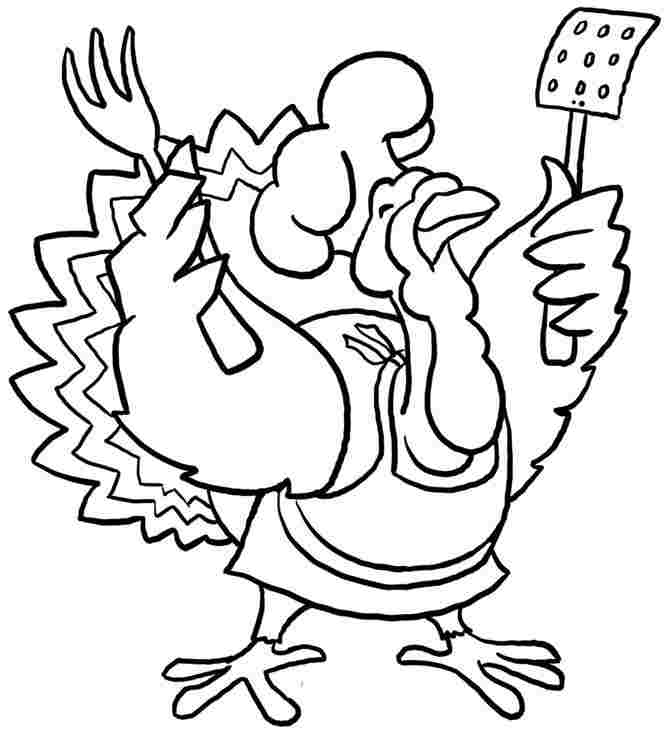 Turkey Coloring Sheets Kids Printable