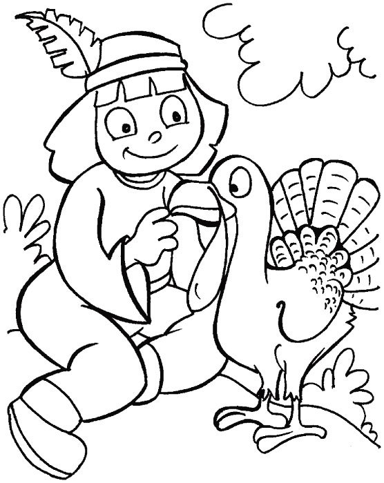 Turkey Coloring Sheets for Kids Printable