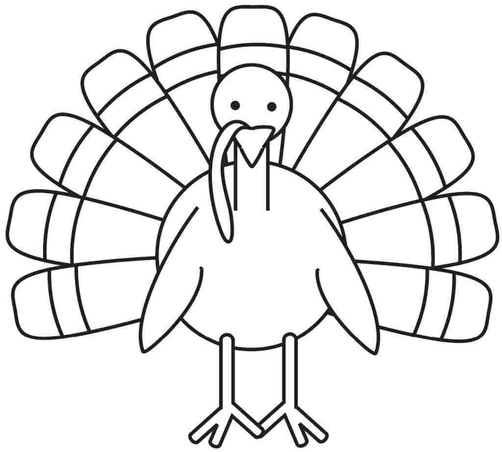 Printable Turkey Coloring Sheets for Toddlers