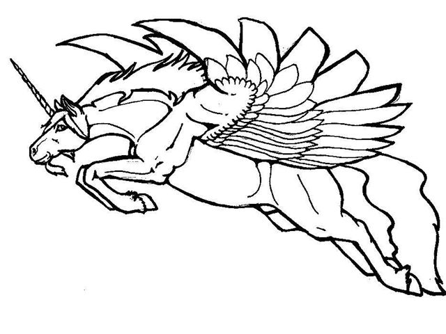 Unicorn Coloring Pages for Adults Printable