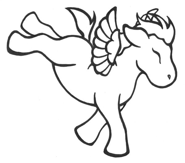 Printable Unicorn Coloring Pages for Preschoolers