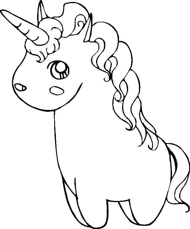Unicorn Coloring Sheet for Toddlers