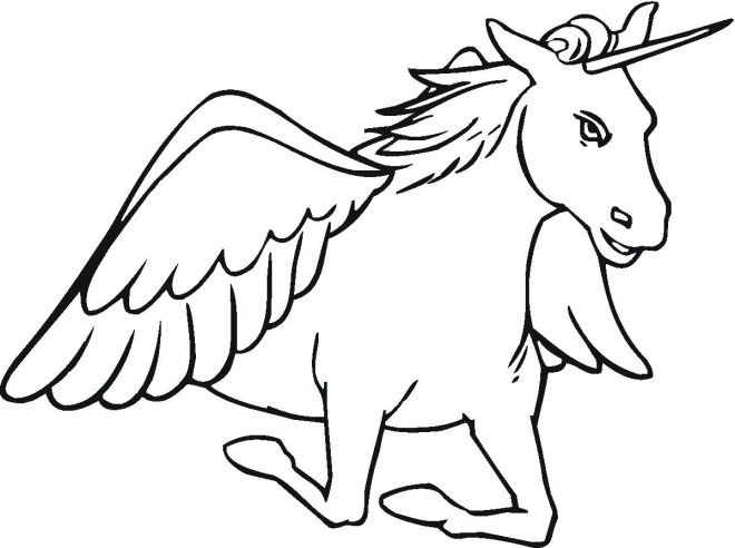 Printable Unicorn Coloring Sheet For Kids Sheets Free