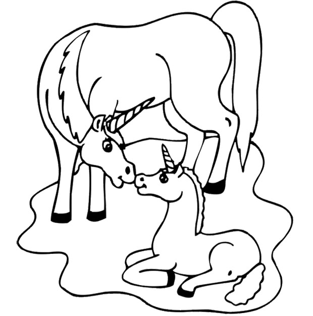 Unicorn Coloring Pages to Print