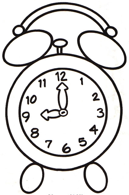 Printable Alarm Clock Coloring Pages