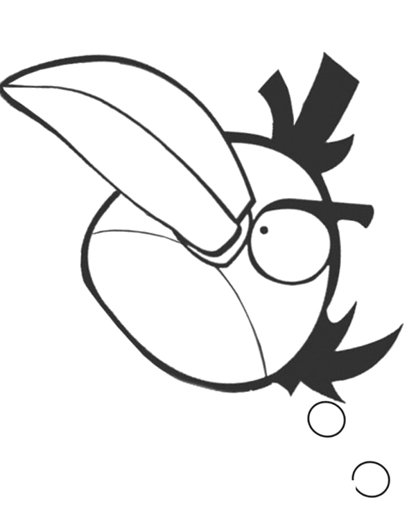 Angry Bird Coloring Pages Free Print