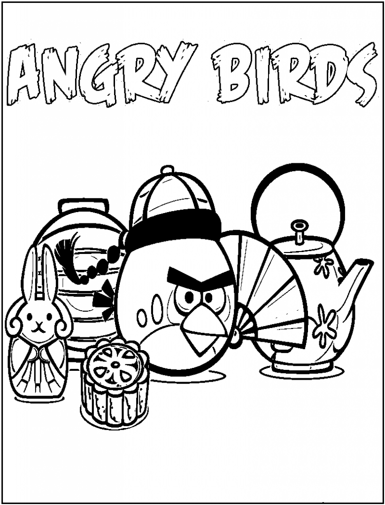 Angry Bird Coloring Pages Star Wars
