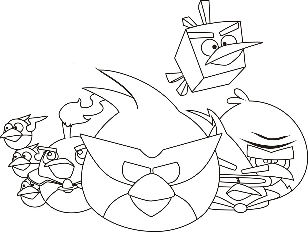 Angry Birds Coloring Pages Free Printable