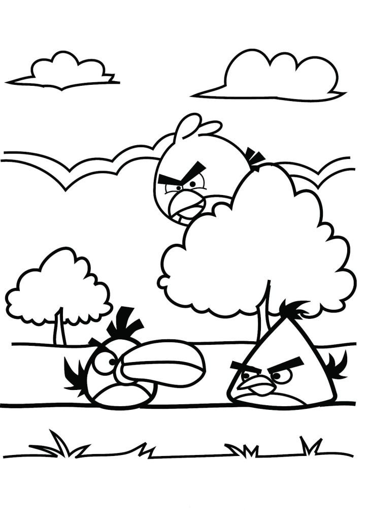 Angry Birds Coloring Pages Free
