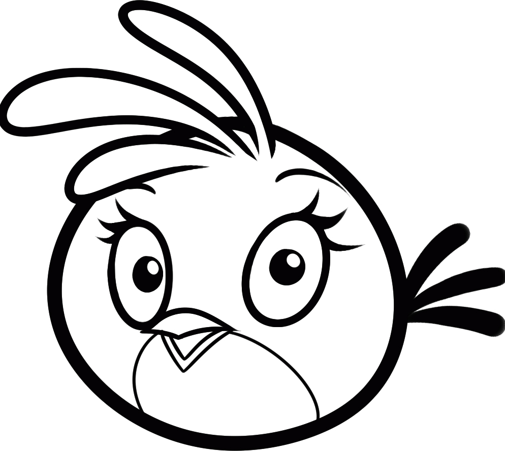 Printable angry birds coloring pages 360coloringpages for Coloring pages birds