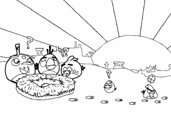 Angry Birds Coloring Printable